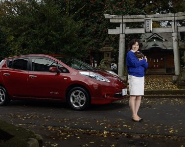 Portrait of Nissan LEAF owner for Nissan-Renault and COP21 Climate Talks 2015