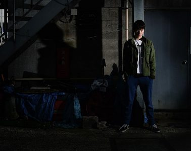 Location portraits with flash: Joe in Omori